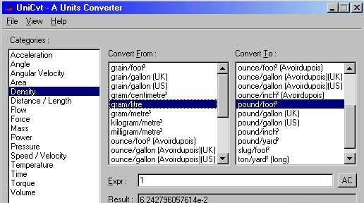 UniCvt is a configurable and versatile unit conversion program.