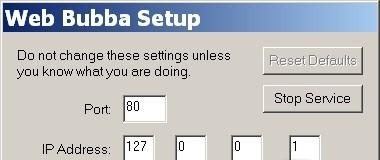 Web Bubba filter
