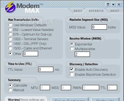 برنامج مجانى لتسريع سرعة الانترنت ModemMAX 3.0 تحسين وتسريع