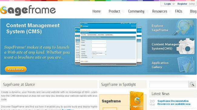 SageFrame sweep