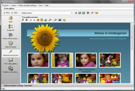 PixExpose - Create and publish eye catching picture galleries on the Internet easily.