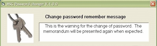 Change_pwd - The small program can remember the end of password time