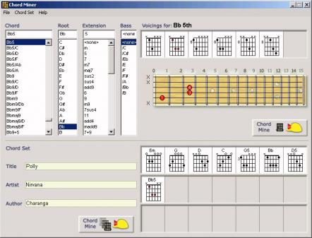 Chord Miner learn guitar scales