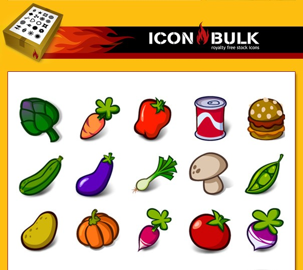 Vegie Icons smiley face icons
