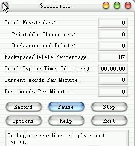 Speedometer typing