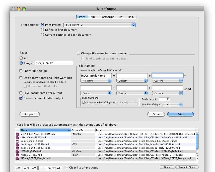 batchoutput pdf now supports mac os
