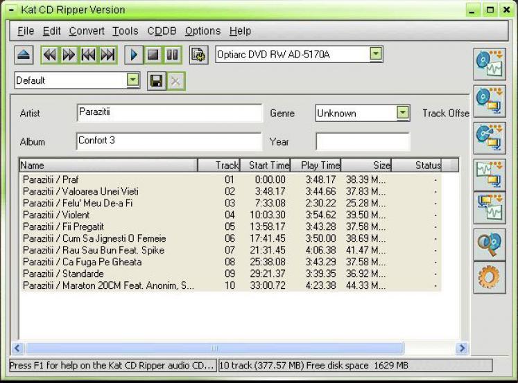 Über Arial CD Ripper : Konvertiert ganze Audio-CDs oder einzelne Tracks wah