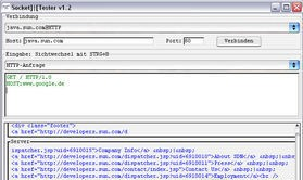 SocketTester v1.2 is used by developers of server/client.