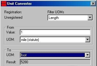 UOMConverter value
