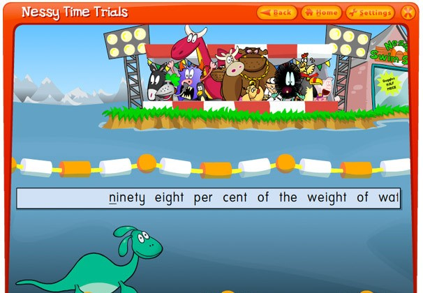 Nessy Fingers typing software