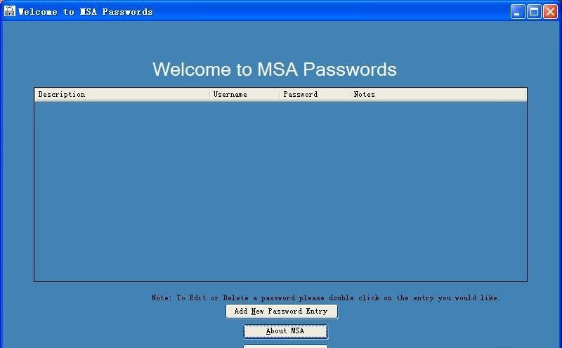 MSA Passwords
