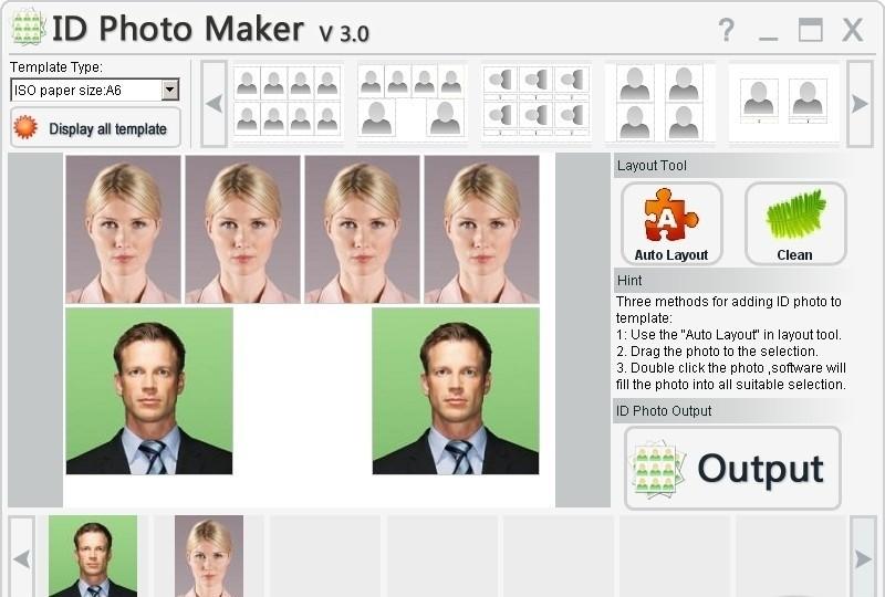 Graphic Apps. Linux. ID Photo Maker 3.2 Build 1118 скриншот. Editors. С