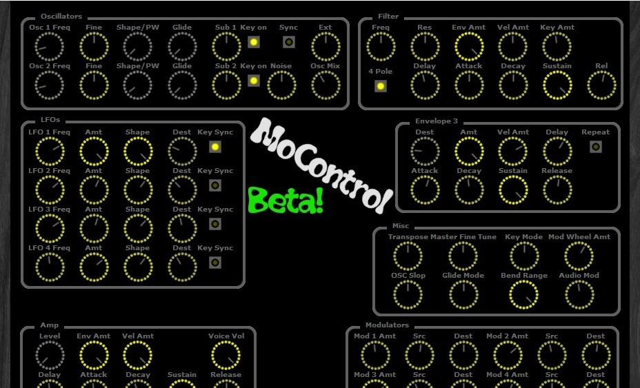 MoControl VST - You can use this plug-in to control/automate parameters.