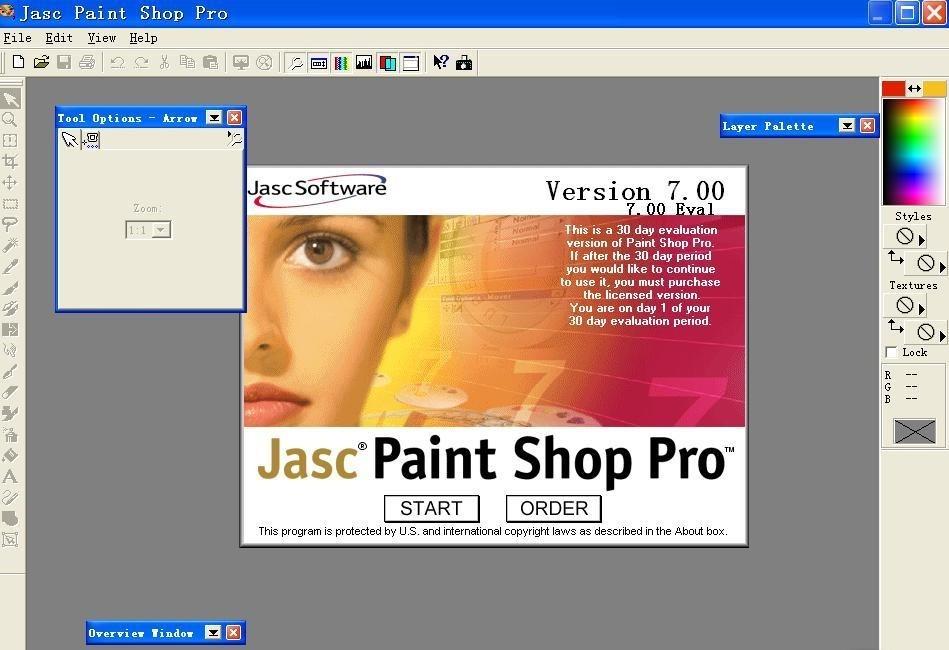 Paint Shop Pro jasc paint shop pro 7