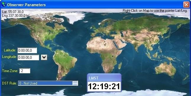 Sidereal Clock meridian 90 tv