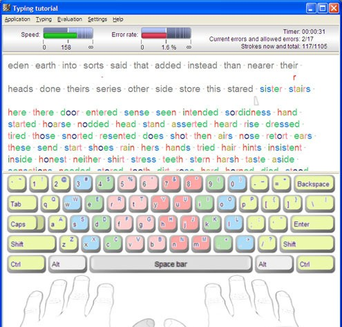 Typing Tutoria typing software