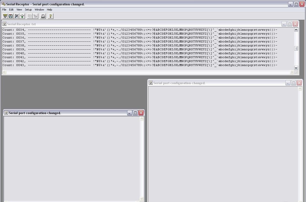 Serial Receptor serial number idm