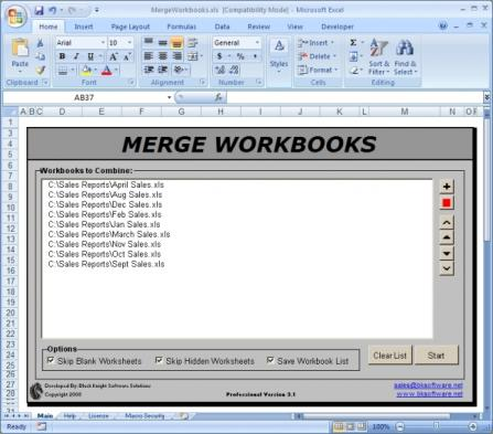Merge Workbooks