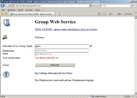 GroupWebService - Users can add their account to a group.