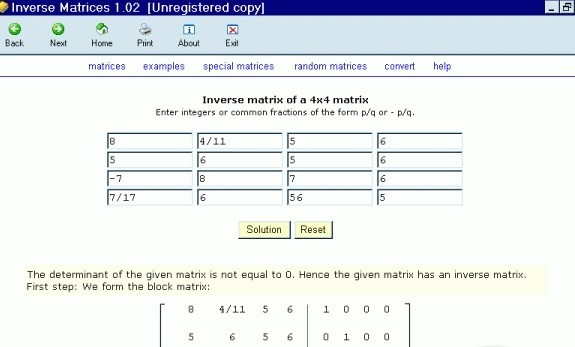 Inverse Matrices matrix