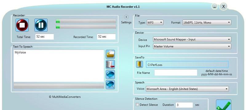 MC Audio Recorder