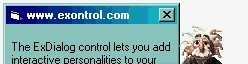 Exontrol! ExDialog - The ExDialog ActiveX control office outlook