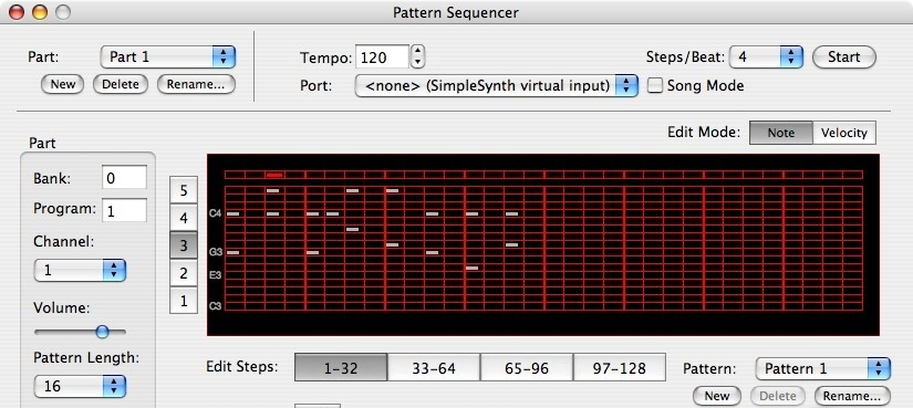 Pattern Sequencer sequencer