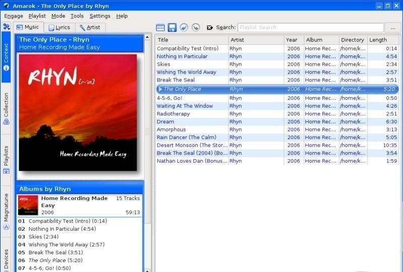 Amarok for Mac OS X