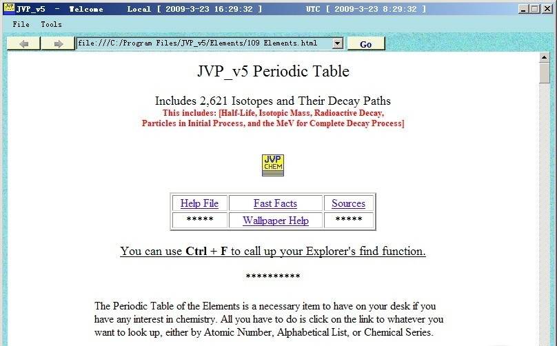 JVP Periodic Table periodic table