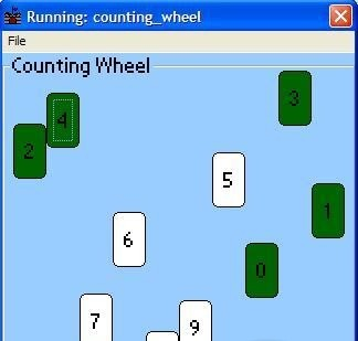 Counting Wheel ppc - A game that practises number recognition moon rise