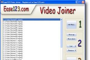 Ease123 Video Joiner эта утилита поможет вам склеить ваши video, image and/or audio