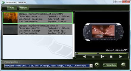 ViVi PSP Converter - Convert ALL video to PSP format in quick and easy way! free mp3 to wav converter