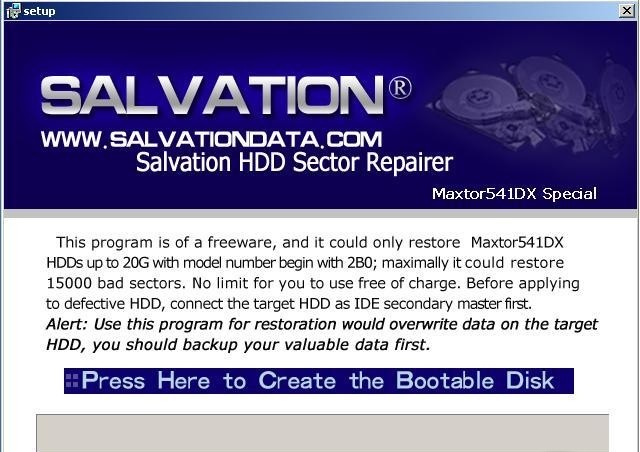 HDD Sector Repairer restoration