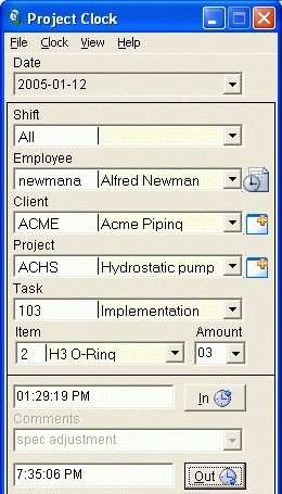 Employee Proj Clock is useful for companies that must keep track of their emp...