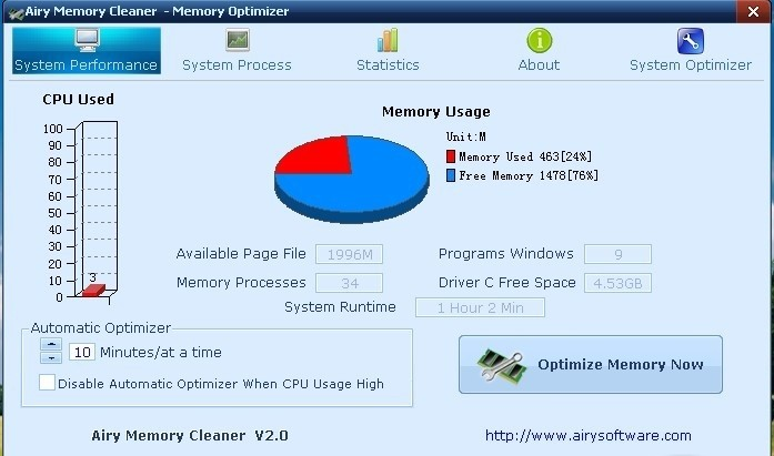Airy Memory Cleaner