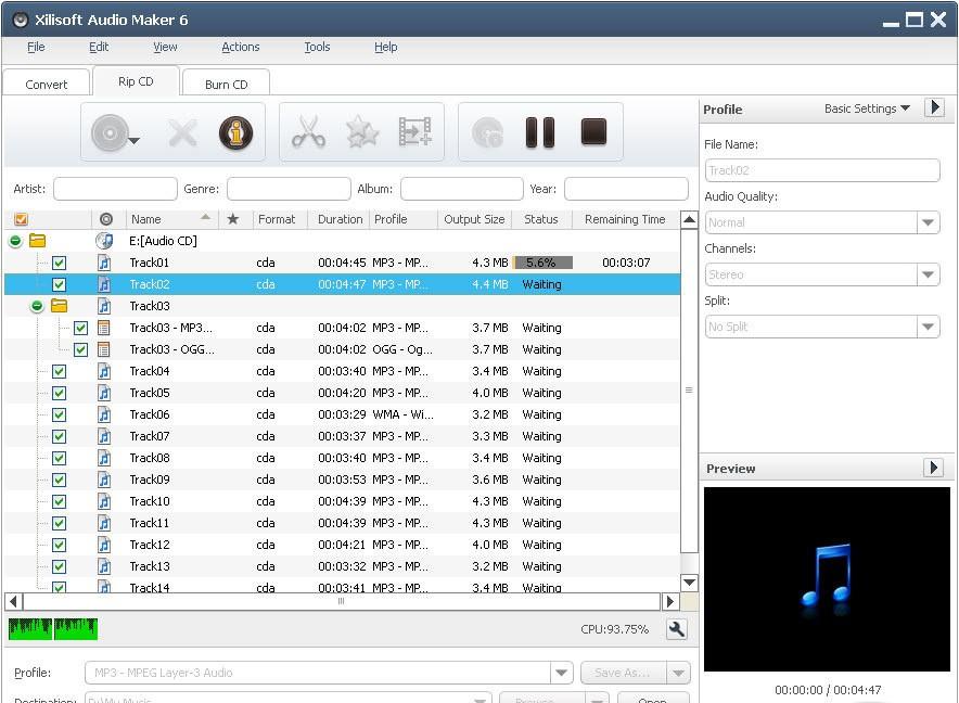 Платформа. Audio converter, CD ripper and CD burner. Дата релиза. 6.5.0.