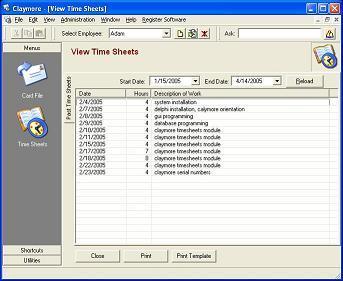 Timesheet software full version