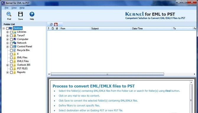 Kernel for EML to PST