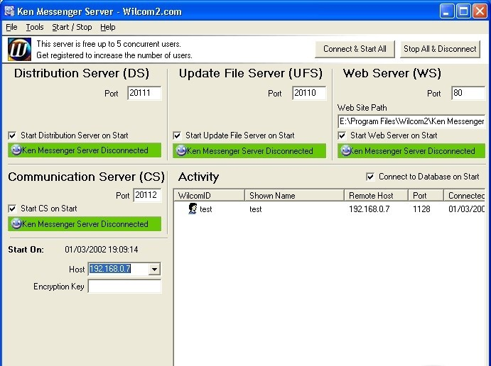 Ken Messenger Server qeep messenger