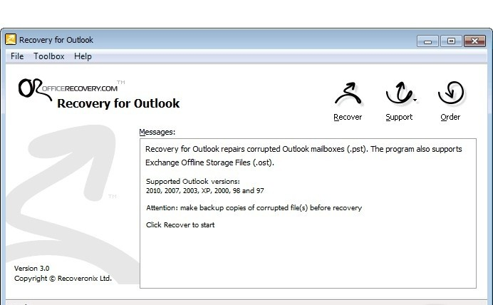 Recovery for Outlook office outlook