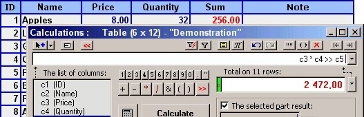 SumsBox-W for MS Word - SumsBox adds new opportunities to the MS Word to work with numbers and tables. periodic table