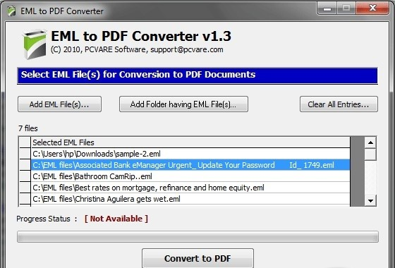 Converting EML to PDF
