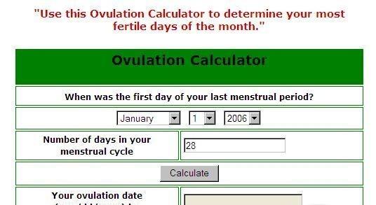 Ovulation Calculator Windows Ovulation Calendar