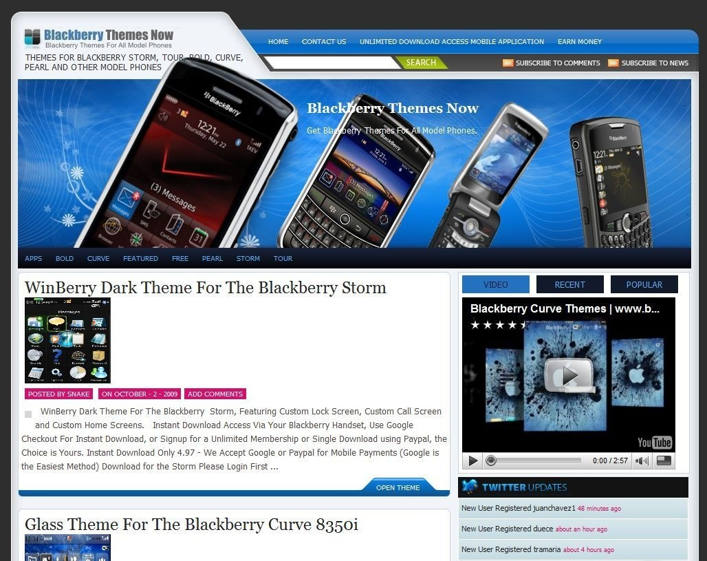 Blackberry Themes Now