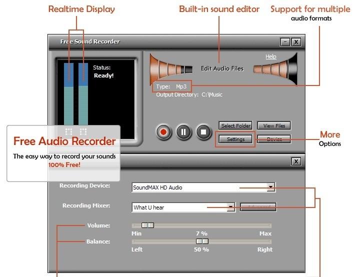 Смотреть фильм Free sound recorder скачать бесплатно на русском бесплатно.