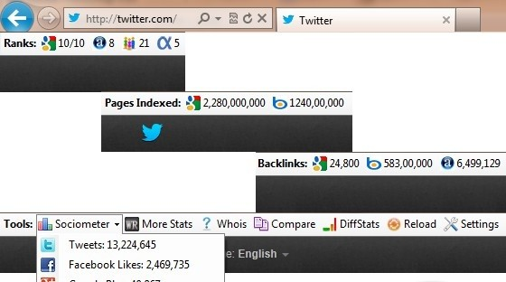 WebRank SEO IE Toolbar