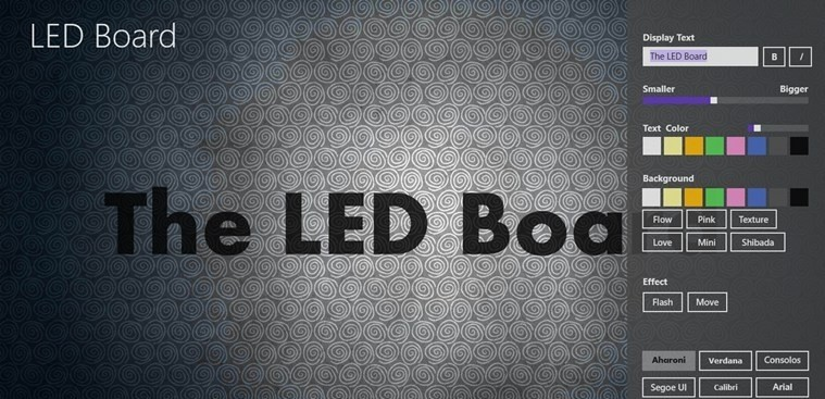 LED Board for Windows 8 powered