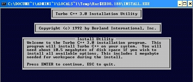 Turbo C for Windows XP