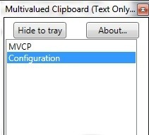 Multivalued Clipboard