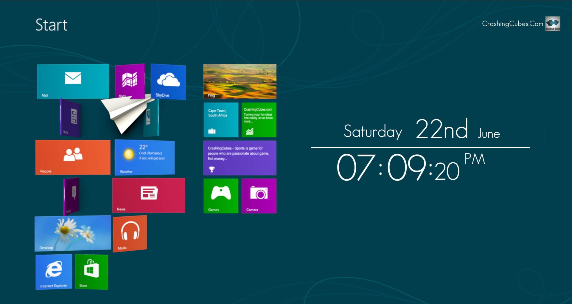 Win8 Screensaver Clock free old clock screensaver